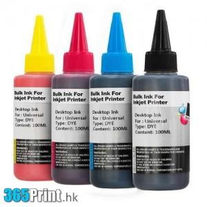 100mL 代用加墨水 黑藍紅黃 Refill (4支)